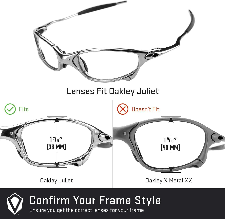 Revant Verres de Rechange pour Oakley Juliet - Compatibles avec les Lunettes de Soleil Oakley Juliet Vert Émeraude Mirrorshield - Non Polarisés