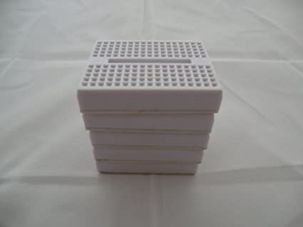 Buy 5x White 170 tie-point electronics breadboards. Build electronic ...
