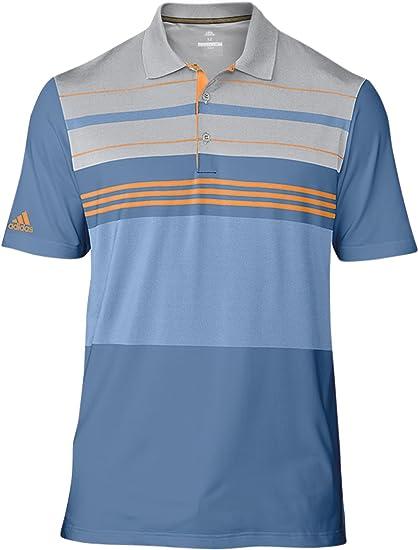 Amazon.com: adidas Golf 2018 Engineered Block Golf Polo Shirt Mens ...