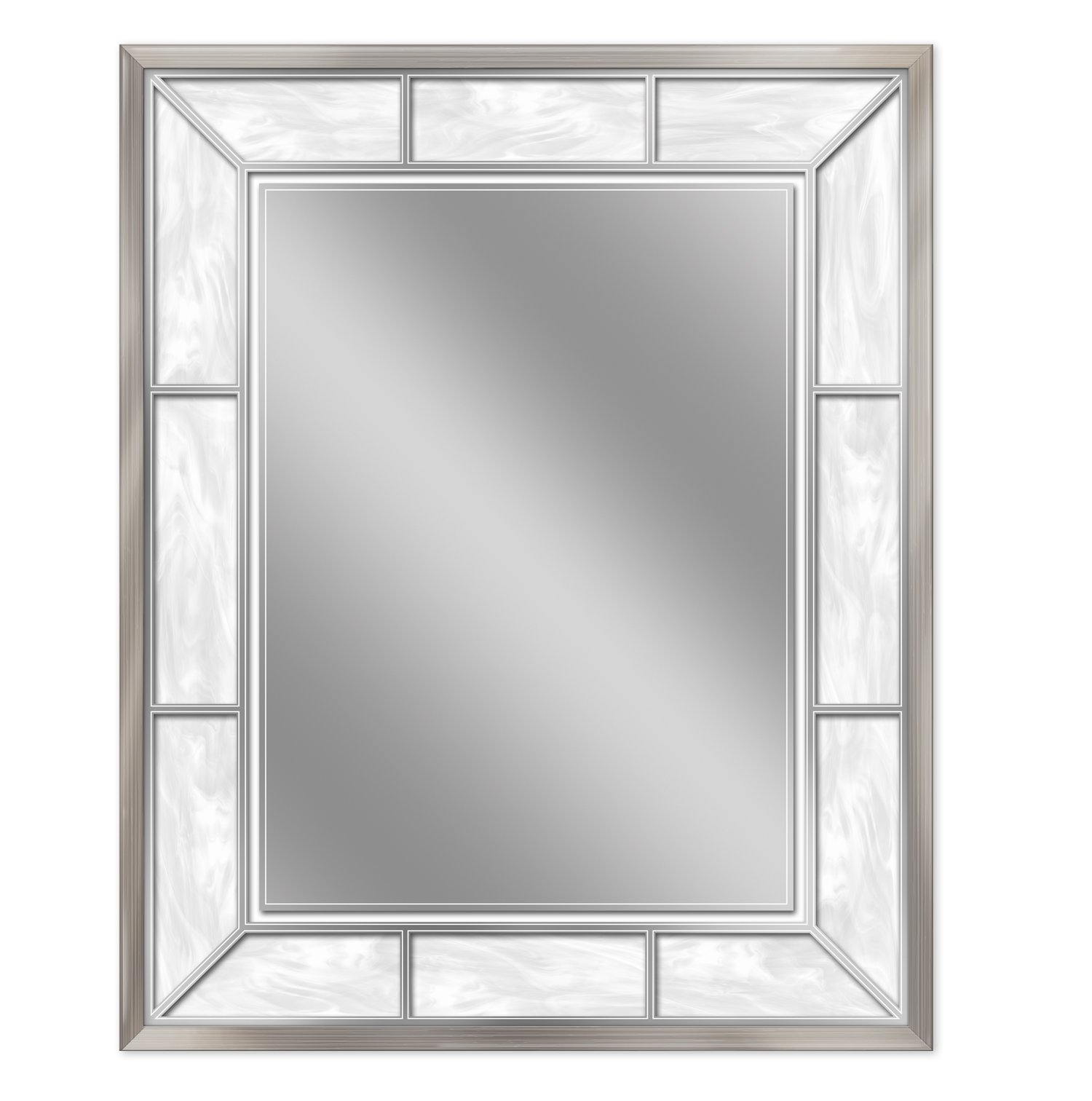 Headwest 8003 Alabaster Wall Mirror in BN, Brown