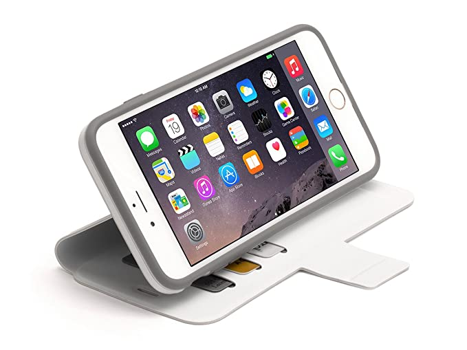 new concept e316a 85ed6 White Identity Protective Wallet Case for iPhone 6 Plus/6s Plus