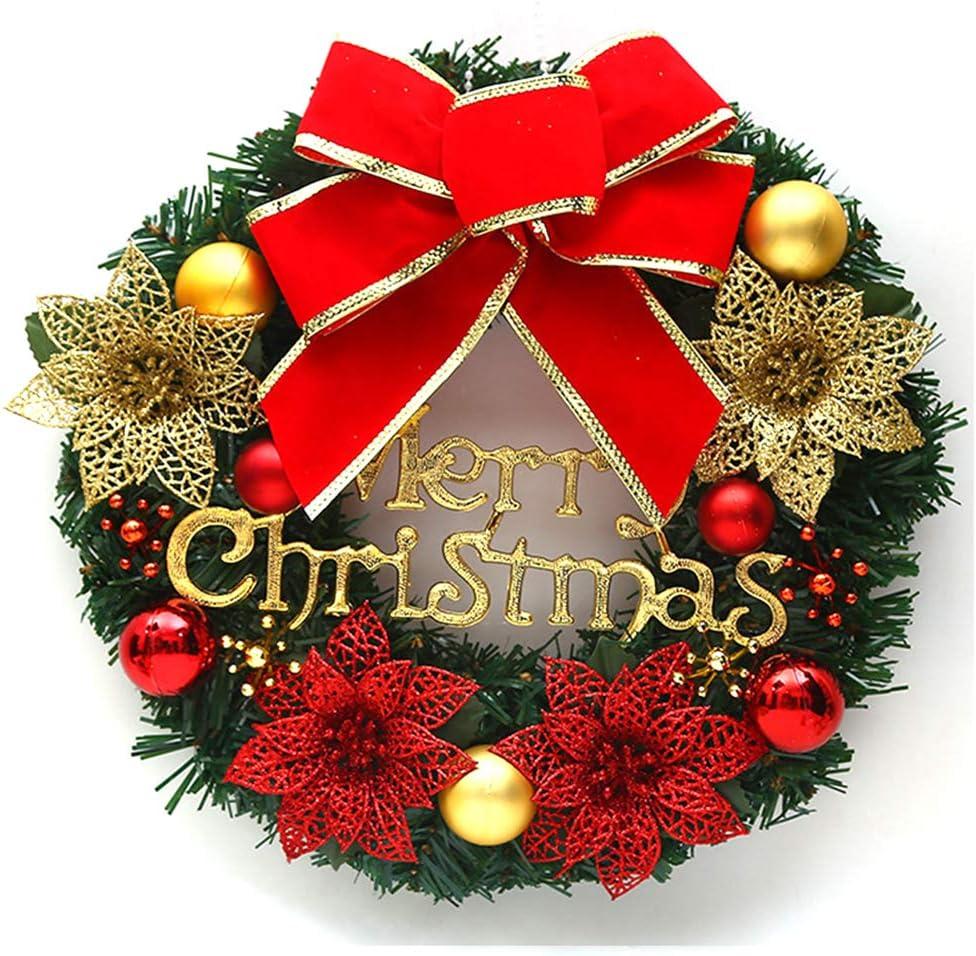 OOFAY Corona de Navidad, Chimenea Escaleras, guirnaldas Decorativas, Navidad árbol de Vacaciones y Alces Soporte de exhibición, Jingle Bell, Regalos creativos de Navidad, Hechos a Mano,03: Amazon.es: Hogar