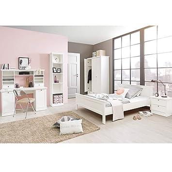 Mädchenzimmer Jugendzimmer Komplettset in Weiß im Landhaus Stil ...