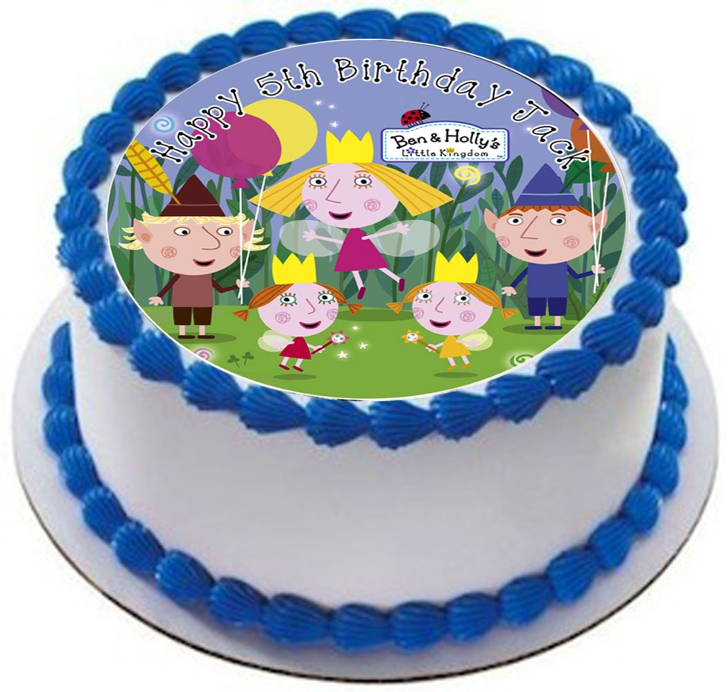 Ben And Hollys Little Kingdom Personalized Cake Topper Icing Sugar