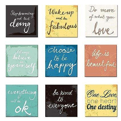 Cuadros Decorativos 9 Piezas By Joss Design Frases Motivacionales