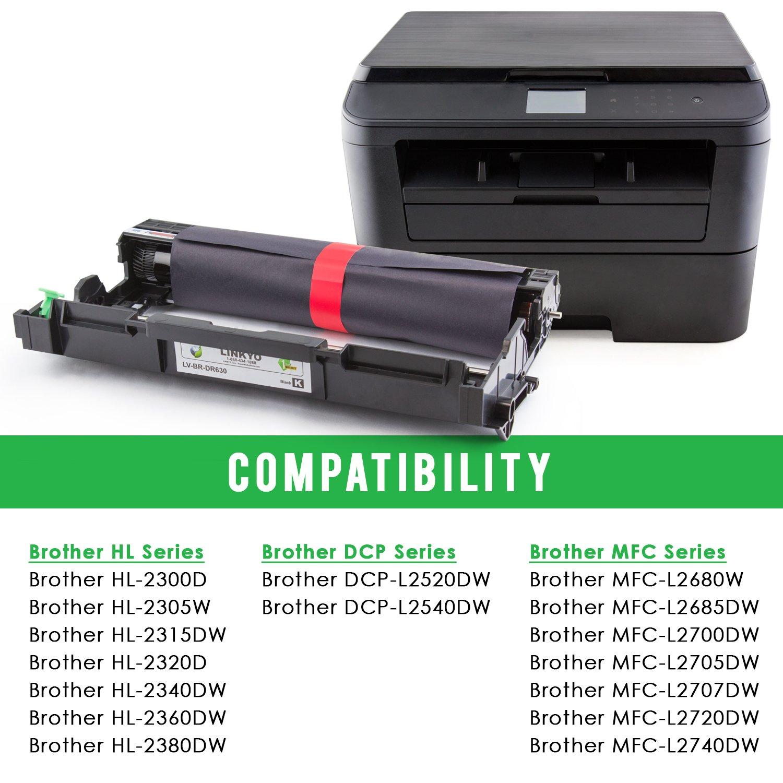 LINKYO - Unidad de batería de Repuesto para Brother DR630 DR-630 ...