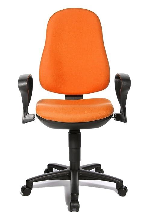 Topstar 8540S G04 Support P - Silla giratoria de Oficina con reposabrazos, Color Naranja