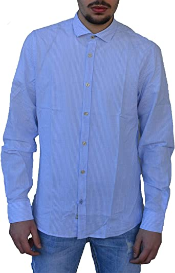 FRED MELLO Camisa para Hombre Azul Claro FM20S19CTLIGHTBLUE ...