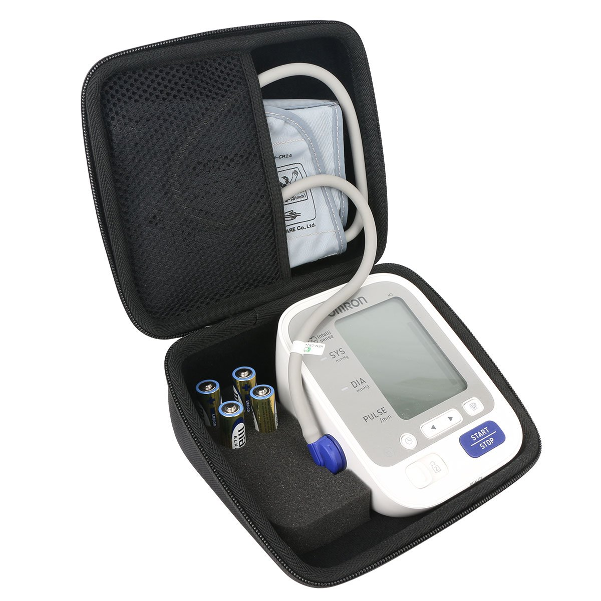 for Omron BP742N 5 Series Upper Arm Blood Pressure Monitor Carrying Case by Khanka