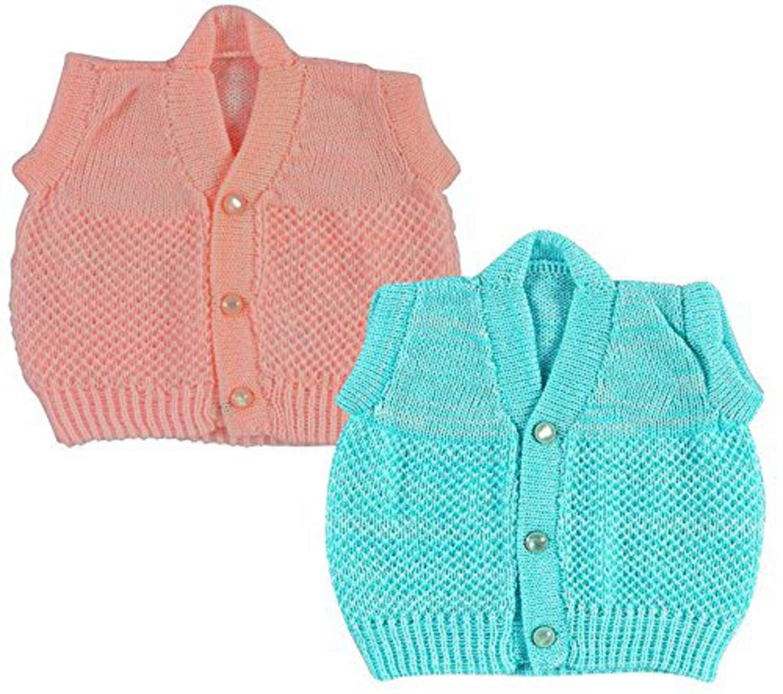 983f858f99b Little Panda Sweater Sleeveless bandi for Baby Boys Girls & New Born Baby  (0-3 Months, Combo 2)