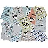 ベビーマンスリーカード(ミニ命名紙付き) 15枚セット(両面印刷・2デザイン)