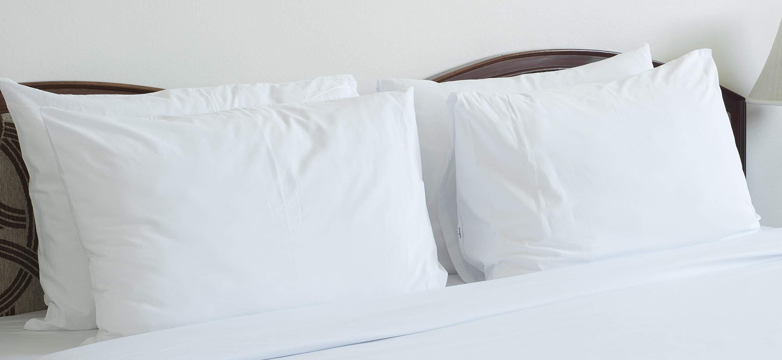 ''B'' Grade 24-Count Pillow Cases - Polycotton, Bulk Pack, 130 Thread Count (20x30 Inches Standard Sized), Physical Therapy Clinics, Hotels, Camps, Seminaries, Churches, Schools, Parties & Chair Covers