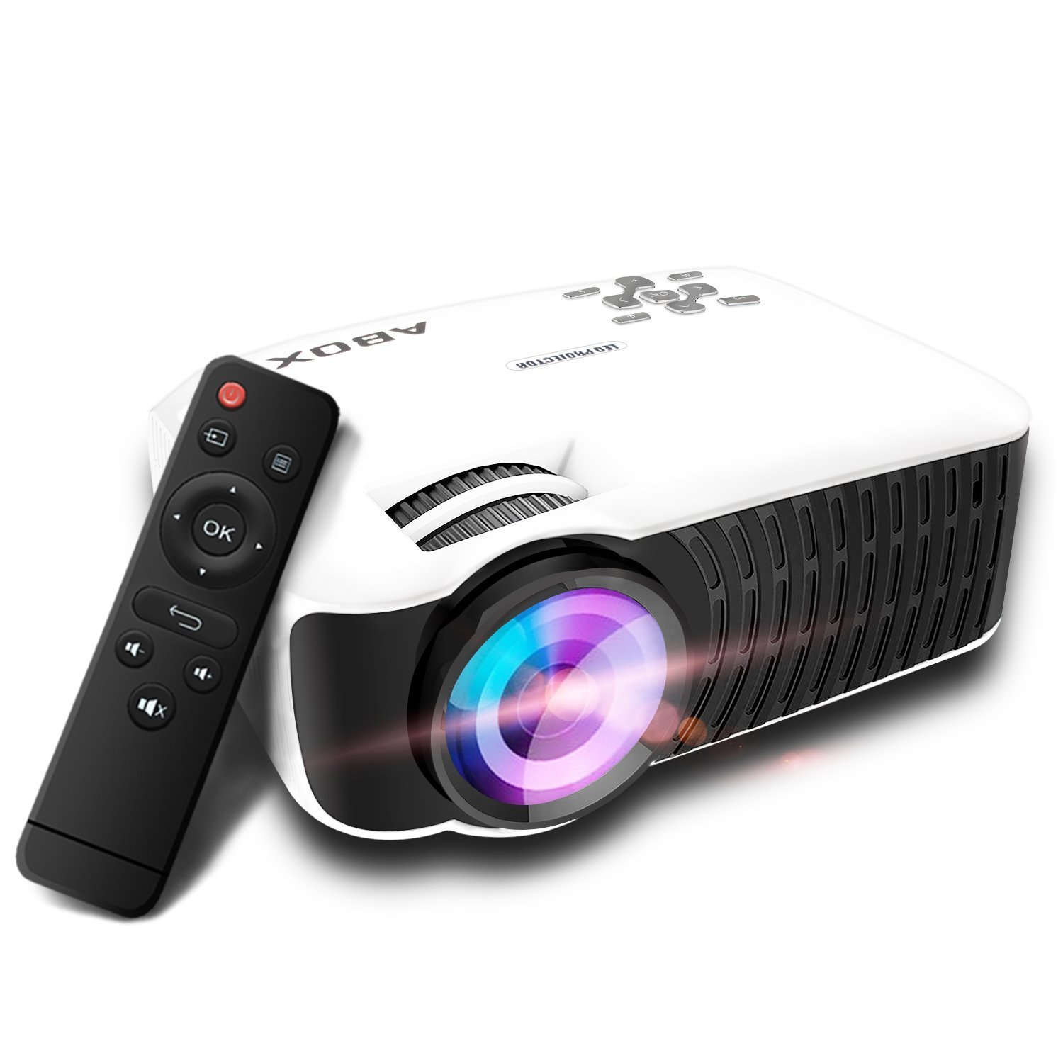 GooBang Doo ABOX T Lúmenes LCD Mini Proyector Multimedia Home Theater Video