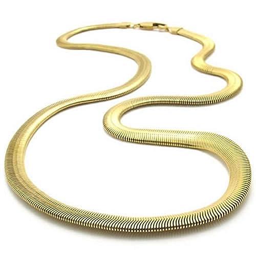 AnaZoz Joyería de Moda Collar de Hombre Acero Inoxidable Oro ...