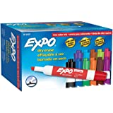 Expo 2 Low-Odor Dry Erase Markers, Chisel Tip, 12-Pack, Assorted Colors (81043)