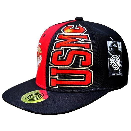 HANWILD Marine Corps Logo Baseball Hat Embroidered Adjustable US Army Cap