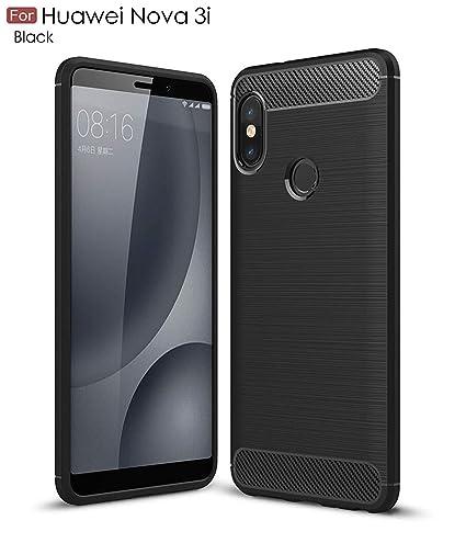 reputable site c33e4 20858 WOW Imagine Rugged Armour Shock Proof Slim Profile TPU Phone Back Case  Cover for Huawei Nova 3i - Carbon Black