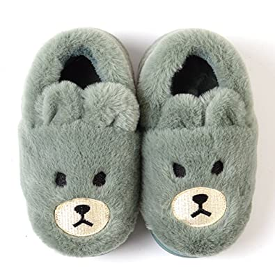 Amazon.com | Cute Slippers, SITAILE Kids Warm Fleece House ...