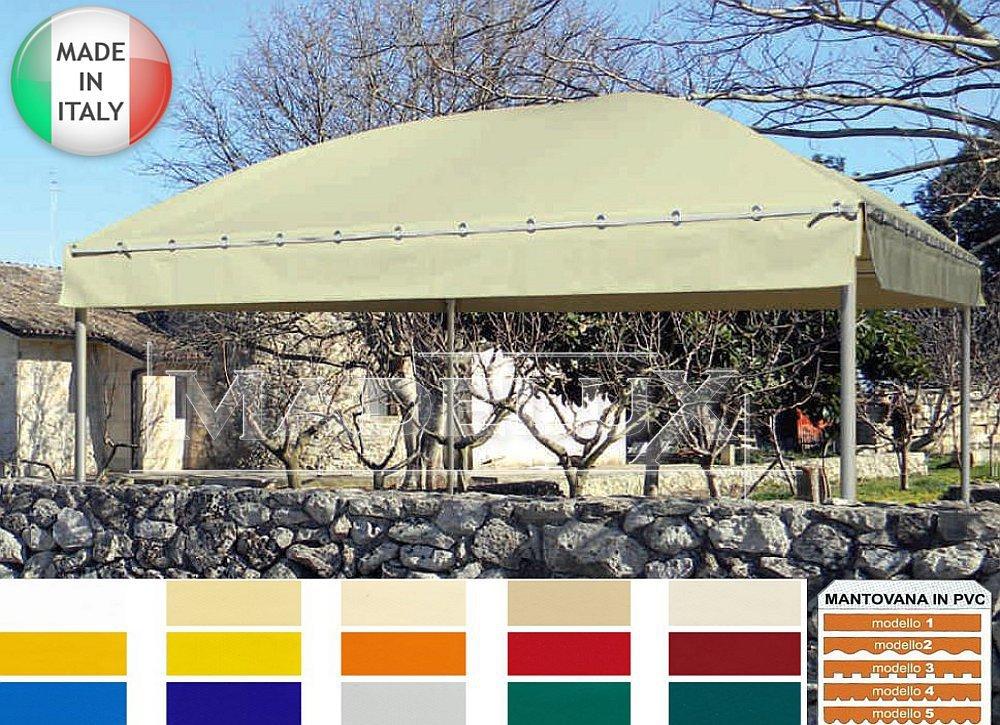 Carpa 4 x 4 m oro PVC 650 g Pagoda acampa Almacenamiento tienda ...