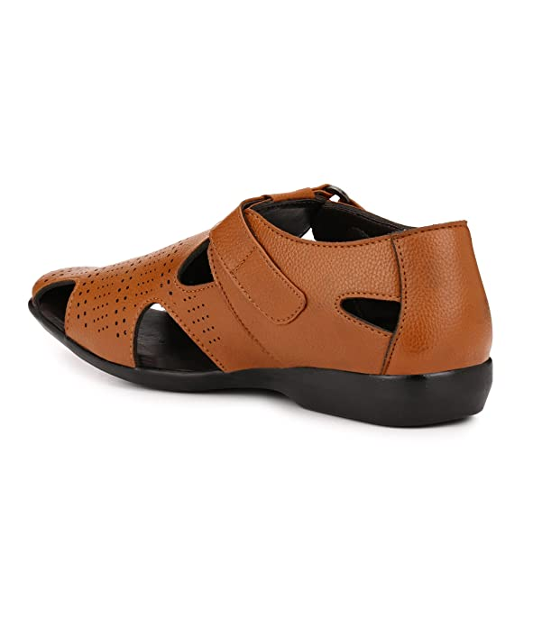 cbbc86a801b70 EL PASO Men s Faux Leather Tan Casual Sandal 40UK  Buy Online at Low Prices  in India - Amazon.in