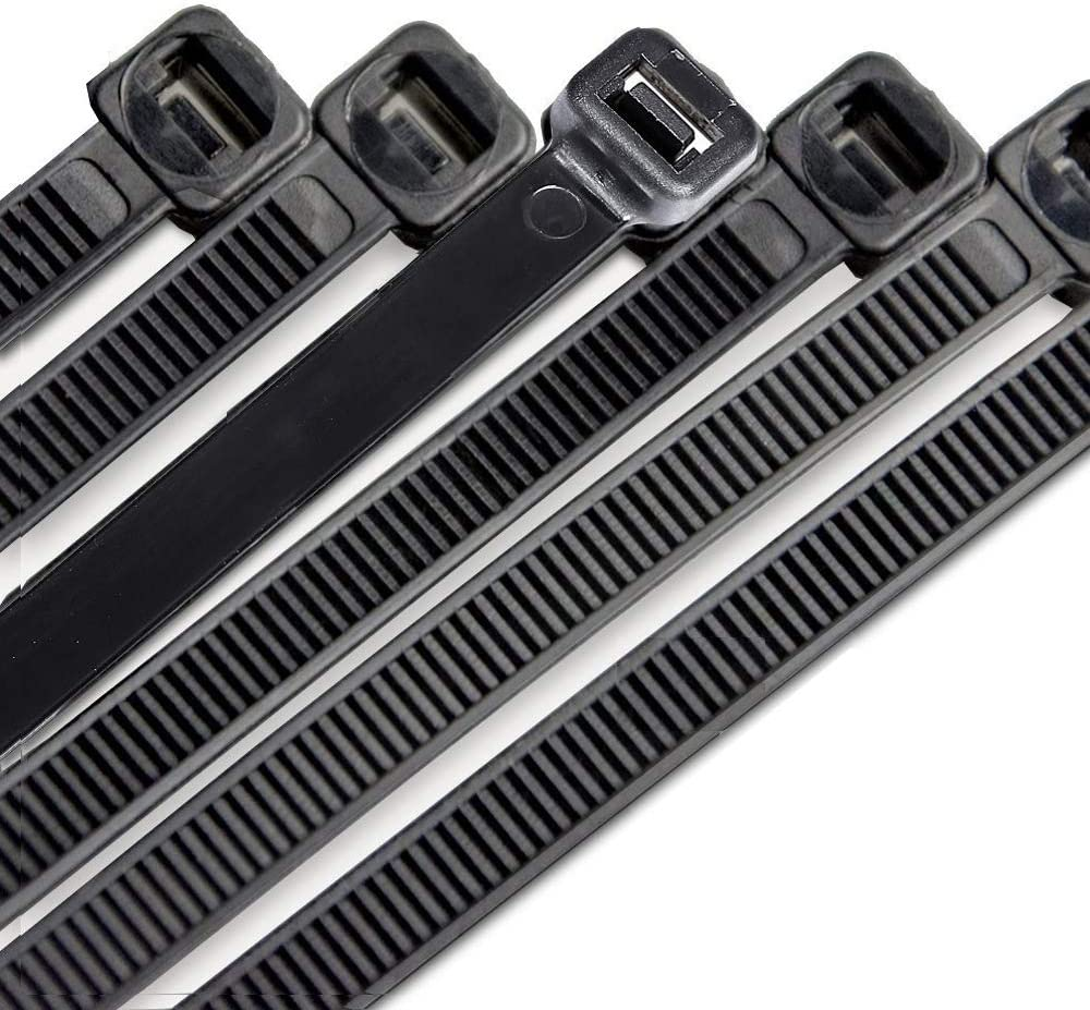 50 Lbs Heavy Duty Plastic Straps Black 100 Pieces Weather and UV Resistant Cable Zip Ties 12 Inch Self Locking Nylon Wire Ties