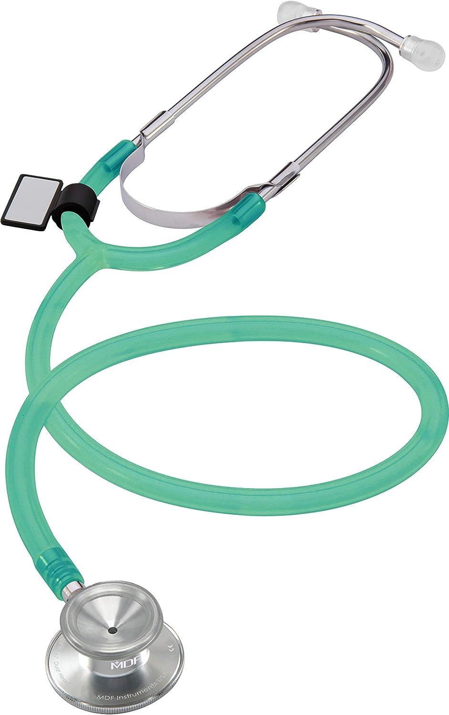 MDF Instruments Dual Head MDF747IAN, Estetoscopio Ligero de Doble Cabeza, Verde Translúcido