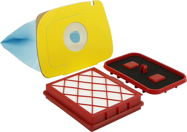 kenekos 10 bolsas de aspiradora con kit de filtro adecuado para Lux 1 D 820 Royal Aspirador de Electrolux, bolsa para el polvo con Deck Disco de cartón, bolsa Ink. Filtro HEPA