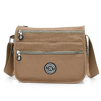 a8bde7568fe98 Foino Schultertasche Wasserdicht Umhängetasche Damen Seitentasche Mode  Reisetasche Lässige Taschen Leicht Sporttasche für Mädchen Vintage Messenger