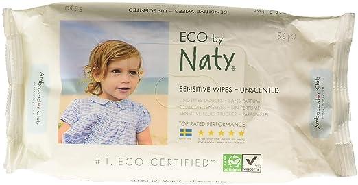 Unparfümiert Damenhygiene Naty Eco Feuchttücher Sensitiv