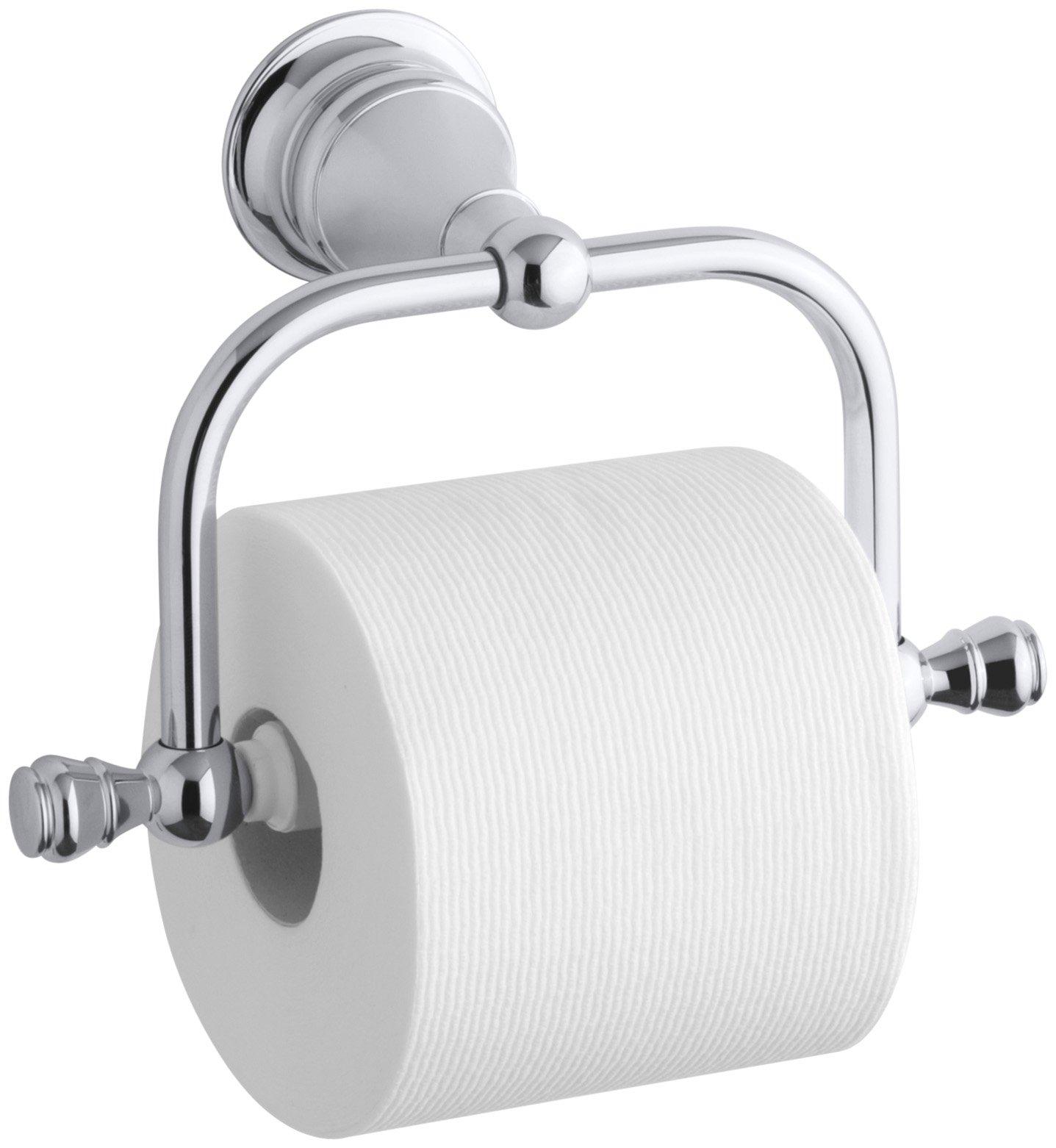 KOHLER K-16141-CP Revival Toilet Tissue Holder, Polished Chrome