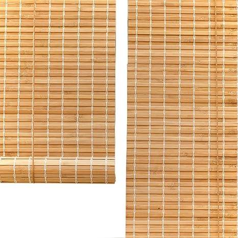 ZAQI Estores enrollables Persianas enrollables Opacas de 55/75/95/115/135 cm de Ancho, jardín, Patio, galería, balcón, bambú, sombrilla con Accesorios (Size : 115×170cm): Amazon.es: Hogar
