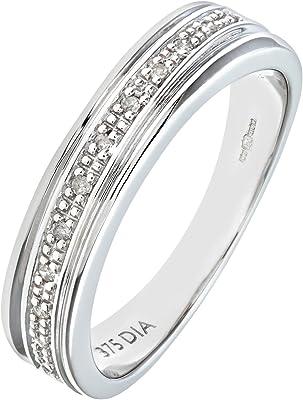 anillo de oro con 12 diamantes blancos