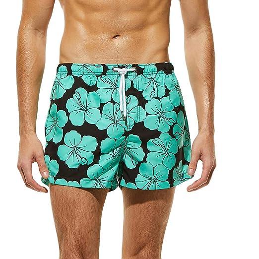 Galaxy Fox Black Mens Beach Shorts Quick Dry Surfing Swim Trunks with Pockets