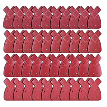 40 Mouse Sanding Sheets for Black and Decker Detail Palm Sander All Grades