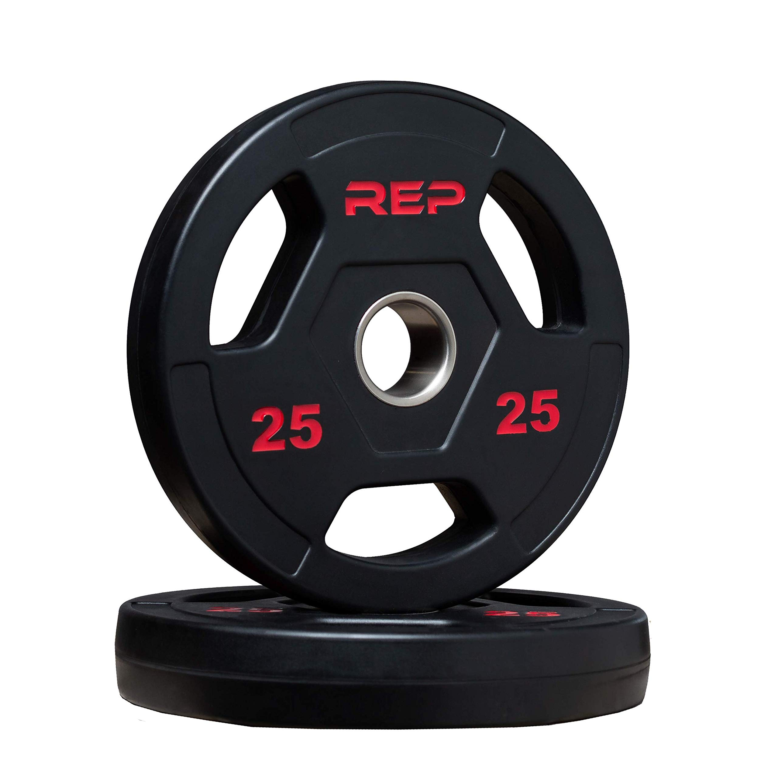 Rep Rubber Coated Olympic Plates 25 lb Pair