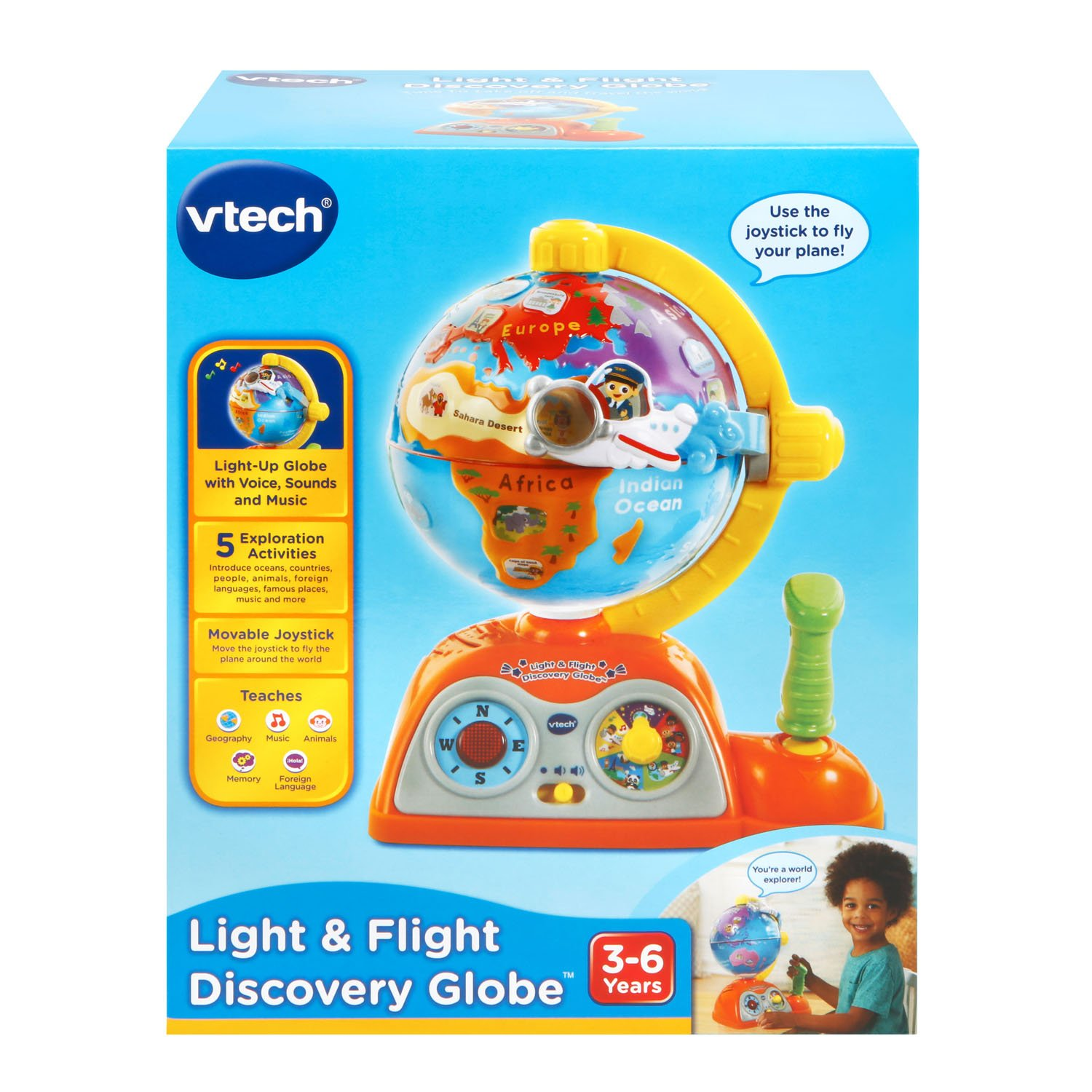 VTech Light and Flight Discovery Globe Amazon Exclusive by VTech (Image #7)