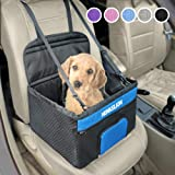 Henkelion Small Dog Car Seat, Dog Booster Seat for Car Front Seat, Pet Booster Car Seat for Small Dogs Medium Dogs Within 30
