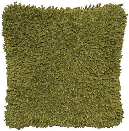 Shagadelic 27 Moss Chenille Twist Shag Pillow