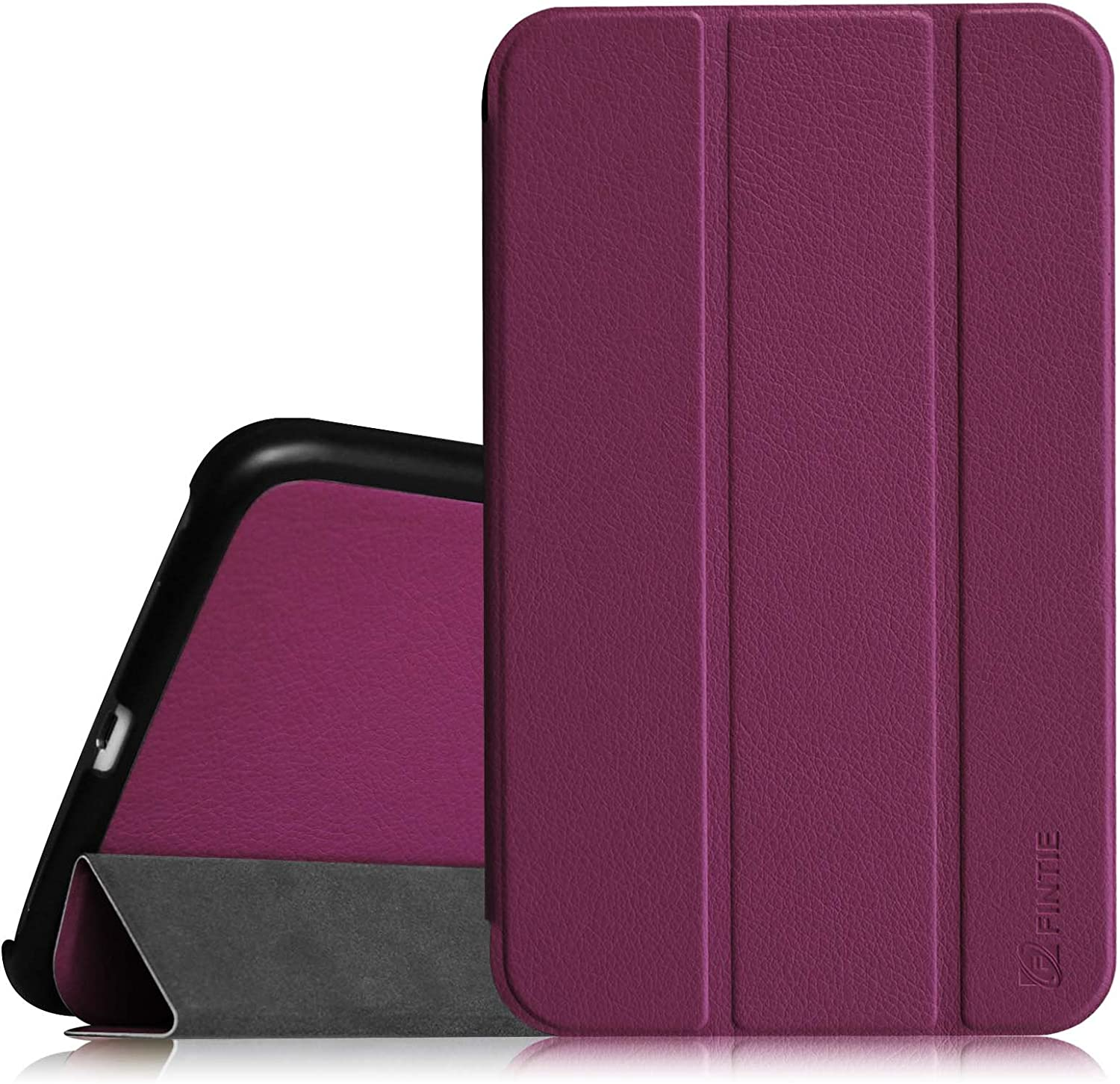 Fintie Slim Shell Case for Samsung Galaxy Tab 4 8.0 (8-Inch) Case - Ultra Lightweight Protective Stand Cover with Auto Sleep/Wake Feature, Purple