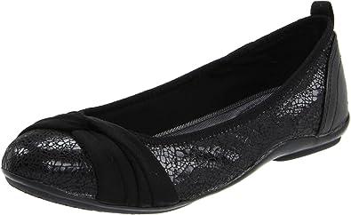 380c6ccc9 DKNY Women's Sophie Flats Black Foil Lizard 5.5 ...