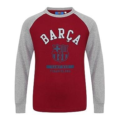 487868ffcf7 Amazon.com  FC Barcelona Official Soccer Gift Kids Crest Long Sleeve Raglan  T-Shirt Gray  Clothing