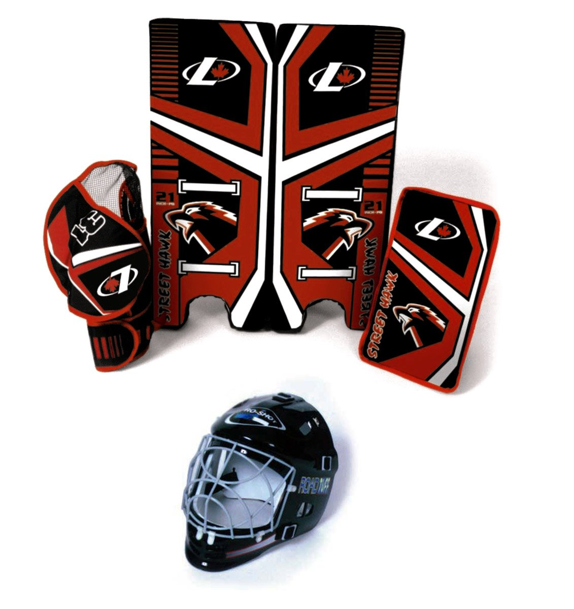 Freeman Industries Street Hockey Goalie Pad, Glove and Mask Set FI-1225-GM Goalie Gear