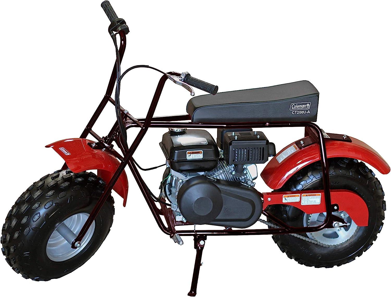 Amazon Com Coleman Powersports Ct200u B Gas Powered Trail Mini Bike 196cc 6 5hp Black Automotive