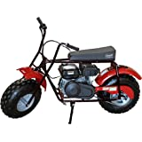 Coleman Powersports Mini Bike Trail Scooter for Adults & Kids 13+, Gas Powered, 196cc/6.5HP, Black (CT200U-AB)