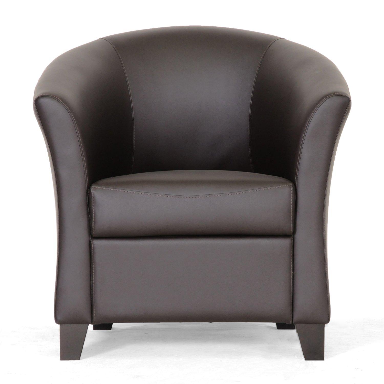 Amazon.com: Baxton Studio Anderson Modern Brown Club Chair: Kitchen U0026 Dining