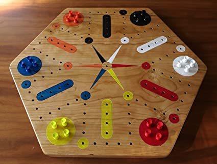 amazon com cherry fast track aggravation game board with pegs
