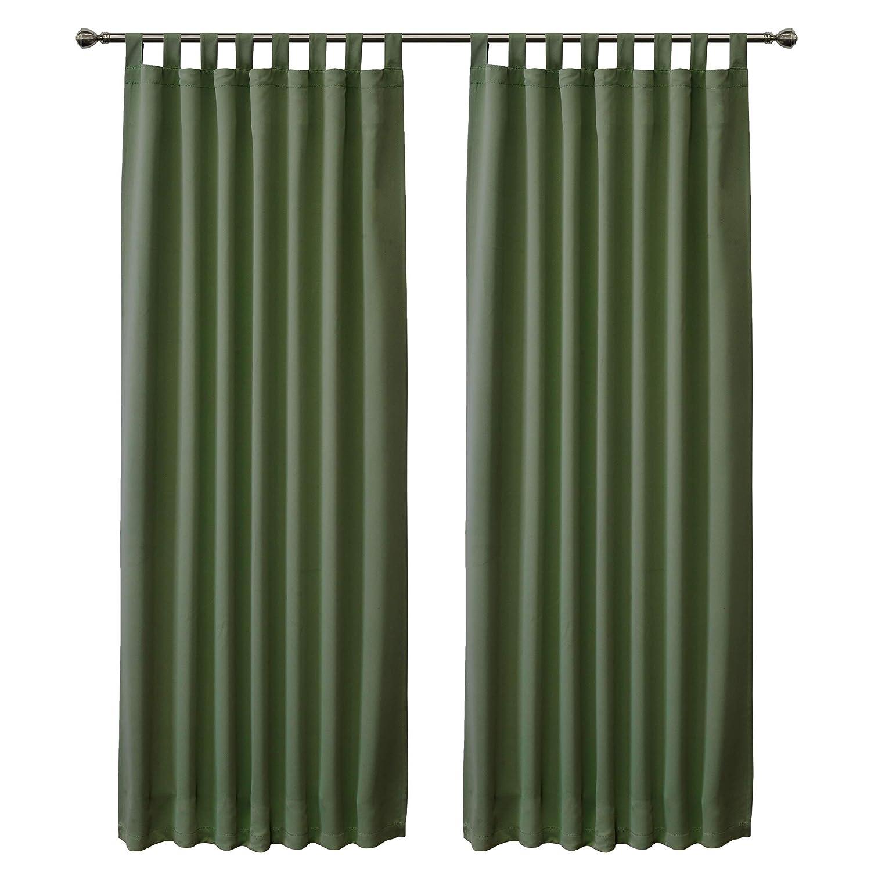 FLOWEROOM Blickdichte Gardinen Verdunkelungsvorhang - Lichtundurchlässige Vorhang mit Ösen für Schlafzimmer Grau 245x140cm(HxB), 2er Set B076Y81YVJ Vorhnge