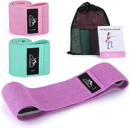 Jambes Lot de 2 Bandes avec Sac de Transport GUSODOR Bande Elastique de R/ésistance /Équipement dExercices pour Musculation Pilates pour Yoga Corps Fessiers