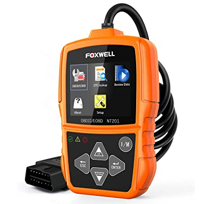 FOXWELL NT201 OBD2 Scanner Check Engine Light Car Code Reader OBD II Diagnostic Scan Tool (New Version): Automotive