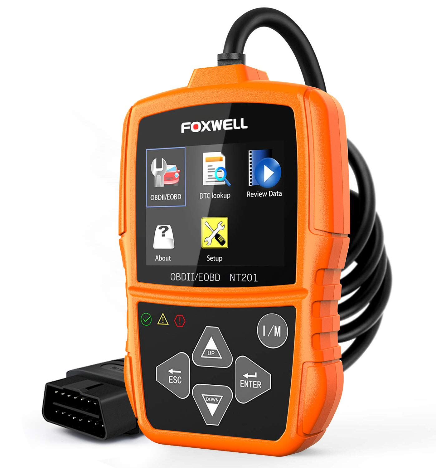 Foxwell NT201 Auto OBD2 Scanner Check Car Engine Light Fault Code Reader  OBD II Diagnostic Scan Tool(New Version)
